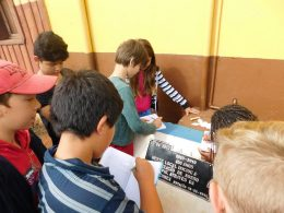 Alunos do 4º ano estudam  a história do Município de Estação