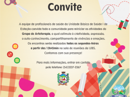 Grupo de ARTETERAPIA reinicia as atividades