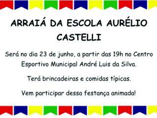 Arraiá da Escola Aurélio Castelli