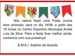 Escola Anjinho da Guarda realiza Festa Junina