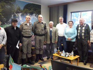 Executivo recebe visita do Major e Capitão da Brigada Militar