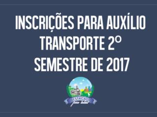 Últimos dias das Inscrições para auxílio transporte 2º Semestre de 2017