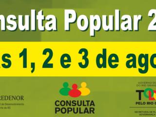 INICIOU HOJE A VOTAÇÃO DA CONSULTA POPULAR