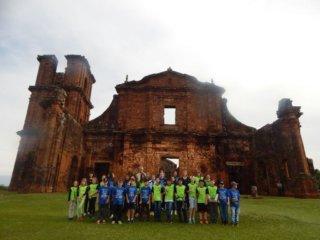 Escola Pedro Cecconelo de Estação visita as Ruínas das Missões Jesuíticas