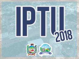 PARCELA ÚNICA DO IPTU 2018 VENCE DIA 16