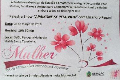 Dia Internacional da Mulher será comemorado com Palestra Show