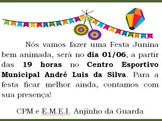 Festa Junina da Anjinho da Guarda