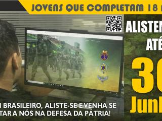 30 de junho: limite para o jovem que completa 18 anos se aliste e esteja em dia com o serviço militar