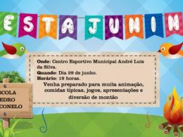 Tradicional Festa Junina da Escola Pedro Cecconelo acontece amanhã, 29