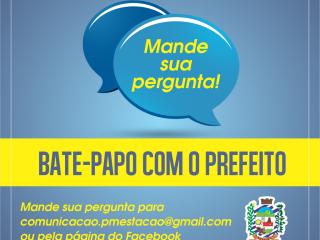 BATE-PAPO COM O PREFEITO  entra no ar dia 30 de junho!