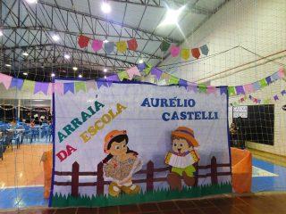 A Festa Junina da Escola Aurélio Castelli foi um sucesso!