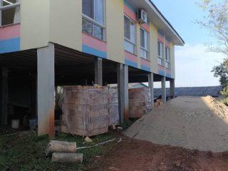 Iniciam as obras da Escola Municipal Anjinho da Guarda