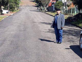 Prefeitura de Estação asfalta ruas do município