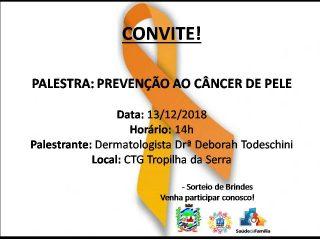 Saúde realiza palestra sobre Prevenção ao Câncer de Pele