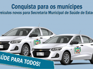 Conquista para os munícipes: 2 veículos novos para Secretaria Municipal de Saúde de Estação
