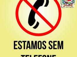 ATENÇÃO!!! ESTAMOS SEM ATENDIMENTO VIA TELEFONE