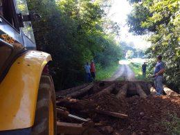 Secretaria de Obras do Município de Estação iniciou a reconstrução da 8ª ponte