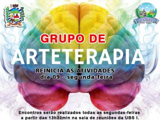 GRUPO DE ARTETERAPIA REINICIA AS ATIVIDADES SEGUNDA DIA 09