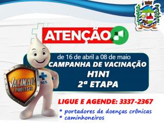VACINAÇÃO DA GRIPE H1N1 PARA OS GRUPOS DA SEGUNDA FASE