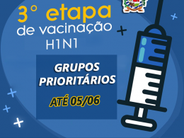 A Campanha Nacional de Vacinação contra a Gripe continua até 05/06