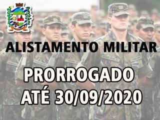 PRORROGADO O ALISTAMENTO MILITAR ATÉ 30/09