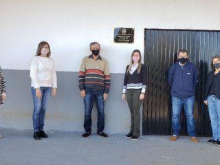 Secretaria da Educação faz aentrega da reforma da quadra coberta do Bairro São José à comunidade