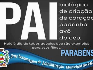 Uma homenagem da Administração Municipal à todos os pais! 👏👏👏
