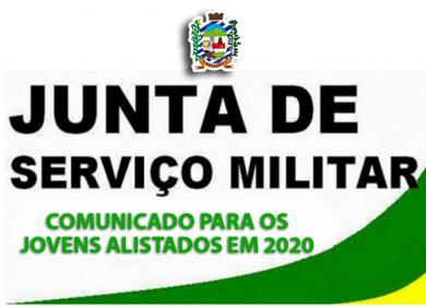 COMUNICADO JUNTA MILITAR – para jovens alistados em 2020
