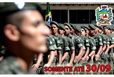 ALISTAMENTO MILITAR ATÉ 30/09