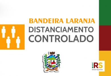 Modelo de Distanciamento protocolo bandeira LARANJA