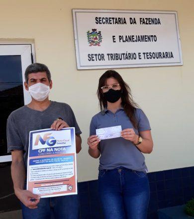 Ganhadora Nota Fiscal Gaúcha de Estação retira prêmio!
