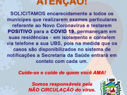 A Secretaria da Saúde e o Comitê Epidemiológico Municipal pedem a colaboração de todos!
