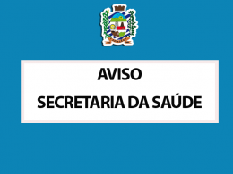 AVISO IMPORTANTE ATENDIMENTOS UBS 2 E UBS NAVEGANTES