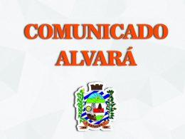 COMUNICADO ALVARÁ