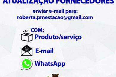 ATUALIZAÇÃO DA BASE CADASTRAL DE FORNECEDORES