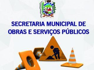 As primeiras duas semanas da Secretaria Municipal de Obras e Serviços Públicos foi de muita limpeza e organização