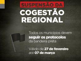 🏴🚫 Confira os protocolos válidos durante a vigência da bandeira preta em todo o Estado