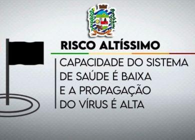 RESTRIÇÕES PELA CLASSIFICAÇÃO DA NOSSA REGIÃO EM BANDEIRA PRETA
