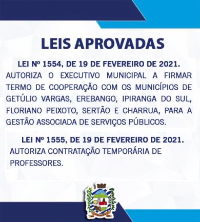 LEIS APROVADAS