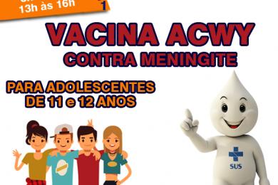 ATENÇÃO ADOLESCENTES DE 11 E 12 ANOS
