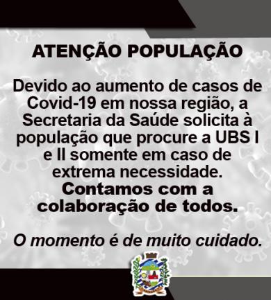 ATENÇÃO POPULAÇÃO