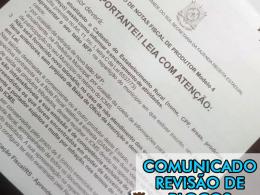 COMUNICADO REVISÃO DE BLOCOS