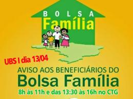 AVISO AOS BENEFICIÁRIOS DO BOLSA FAMÍLIA