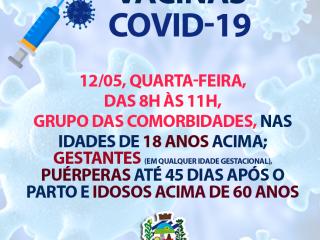 VACINAS COVID-19 – QUARTA-FEIRA DIA 12
