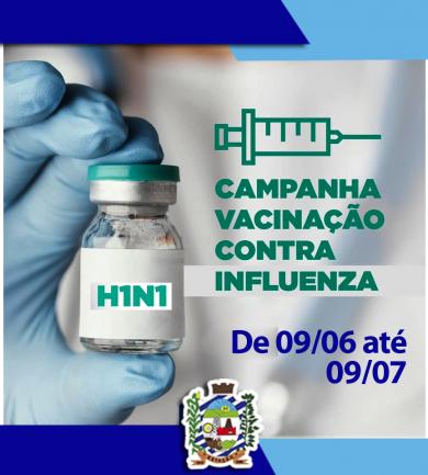 VACINAÇÃO CONTRA A GRIPE – H1N1 – ENTRA NA TERCEIRA FASE de 09/06 até 09/07