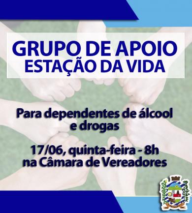 PARTICIPE DO GRUPO DE APOIO ESTAÇÃO DA VIDA