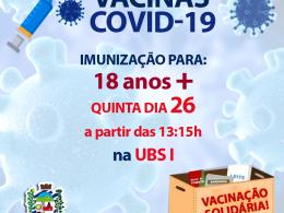 IMUNIZAÇÃO COVID-19 PARA GRUPO: