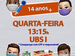 IMUNIZAÇÃO 14 ANOS + COVID-19