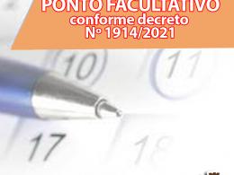 INFORMAMOS QUE NO DIA 11 DE OUTUBRO SERÁ PONTO FACULTATIVO